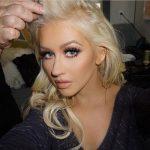 Christina Aguilera wearing Dior Mink Lashes
