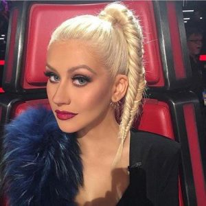 Christina Aguilera wearing Dior Mink Lashes
