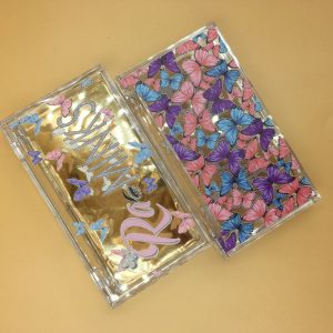 Color Butterflies Custom Eyelash Packaging Boxes