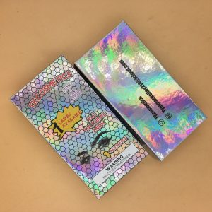 Holographic Custom Lash Woods Packaging Boxes