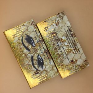Gold Dripping Eyelash Packaging Box