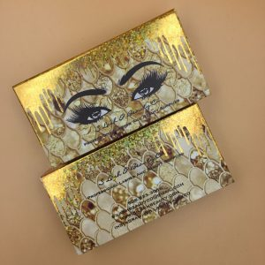 Gold Dripping Eyelash Packaging Box