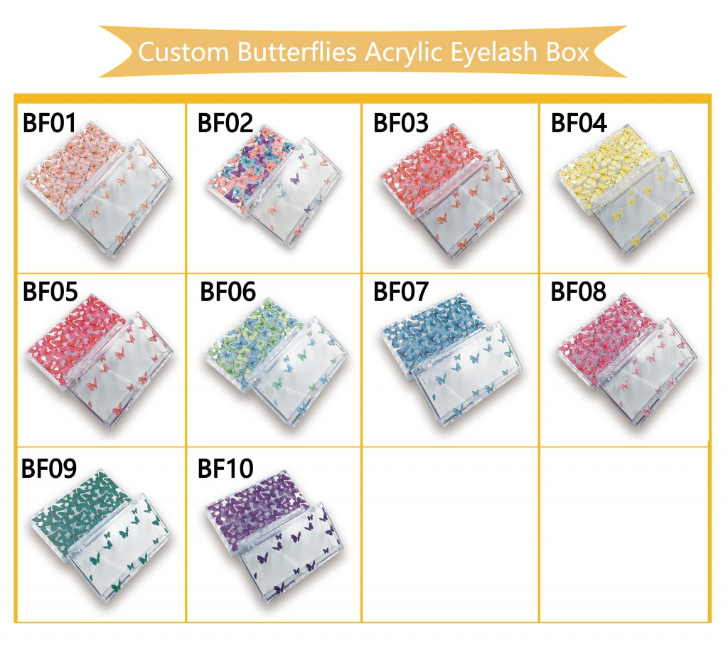 Custom butterfly acrylic packaging case